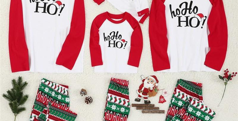 Ho Ho Ho Christmas Family Pajamas