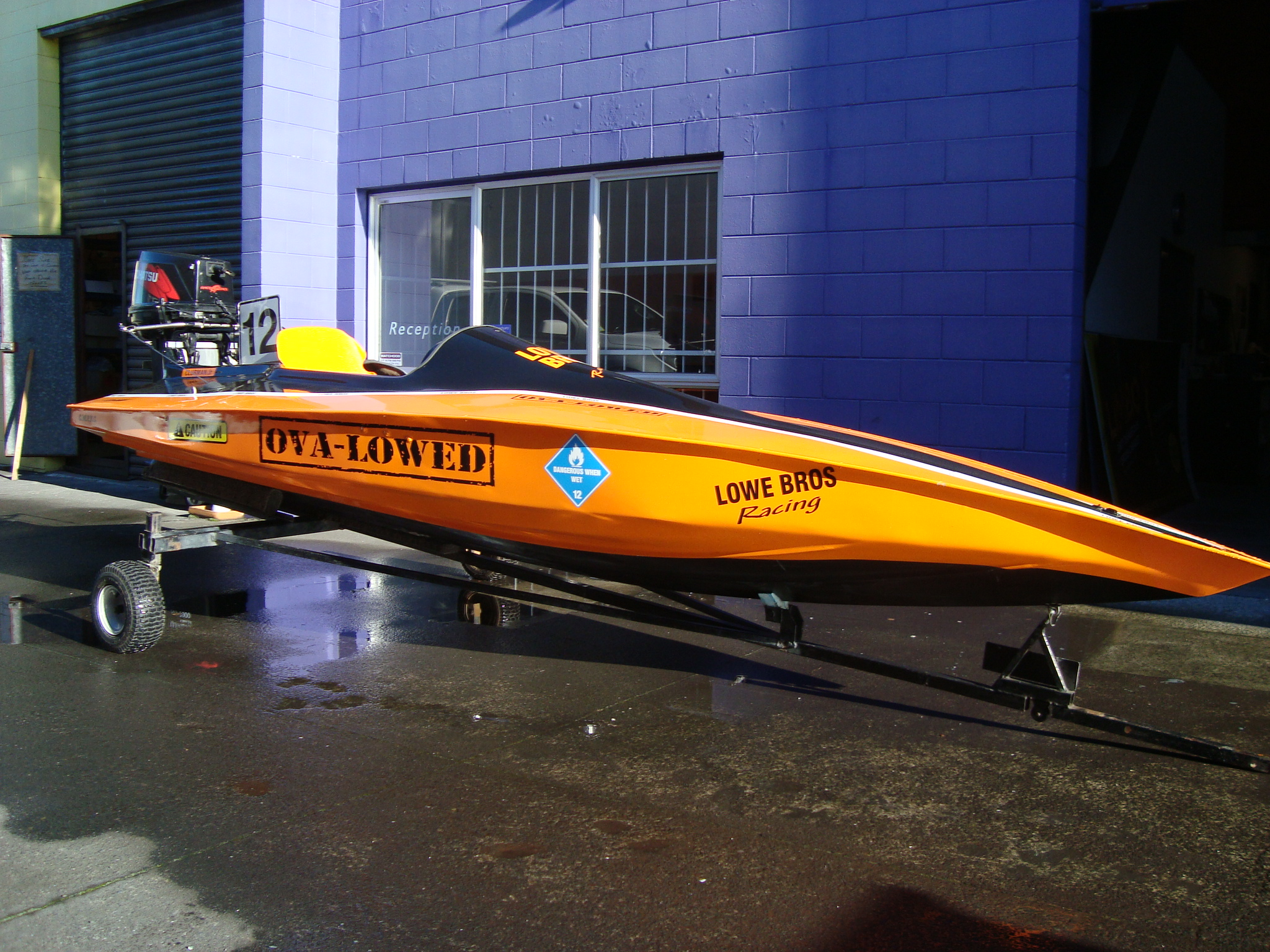 Lowe Orange Race Boat.JPG