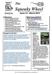 MOTAT Society The Squeaky Wheel Newsletter Issue 14, March 2014