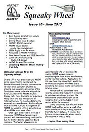 MOTAT Society The Squeaky Wheel Newsletter Issue 10, June 2013