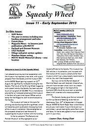 MOTAT Society The Squeaky Wheel Newsletter Issue 11, September 2013