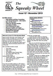 MOTAT Society The Squeaky Wheel Newsletter Issue 12, November 2013