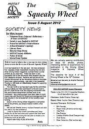 MOTAT Society The Squeaky Wheel Newsletter Issue 5, August 2012