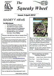 MOTAT Society The Squeaky Wheel Newsletter Issue 3, April 2012