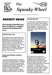 MOTAT Society The Squeaky Wheel Newsletter Issue 1, 2011