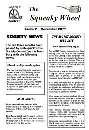 MOTAT Society The Squeaky Wheel Newsletter Issue 2, December 2011