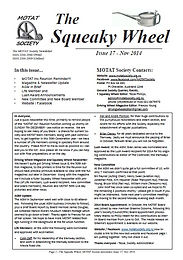 MOTAT Society The Squeaky Wheel Newsletter Issue 17, November 2014