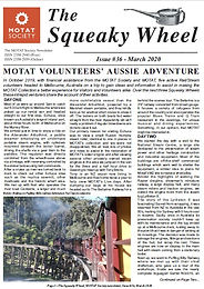 MOTAT Society Squeaky Wheel Newsletter Issue 36, March 2020