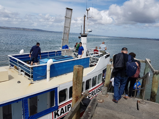 OUR LATEST MOTAT SOCIETY EXCURSION : CRUISING THE KAIPARA HARBOUR