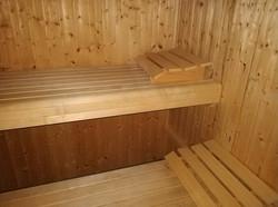 Interior da sauna da Quinta