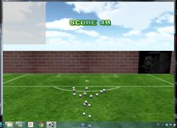 Kicking ball game