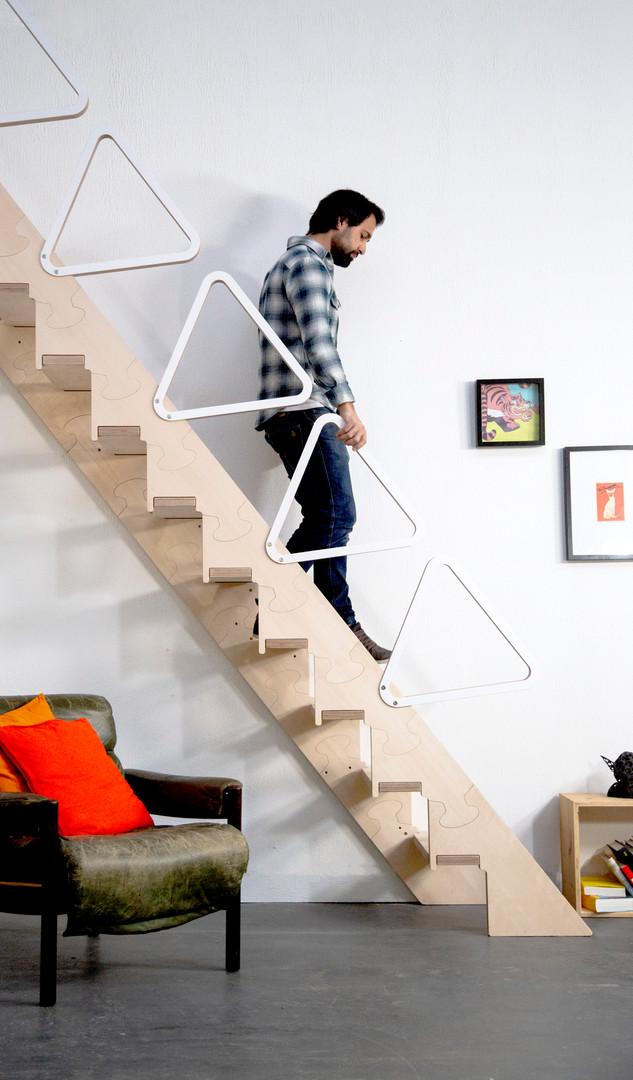 Klapster Comfort Klapptreppe Handlauf modular