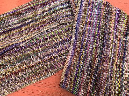 Linda's Linen Stitch Scarf in Earth Tones
