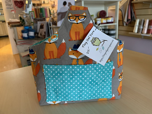"""Tiny Owl Yarns Projects Bag """"Foxes"""""""