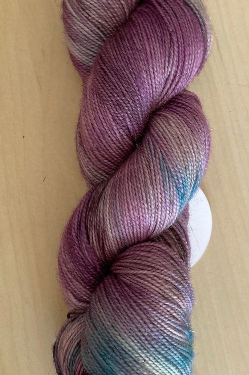 "ColorWae Fiber Arts Sparkle Sock ""Lavendar Queen"""