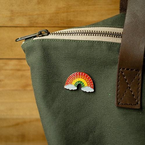 ADknits Rainbow Enamel Pin