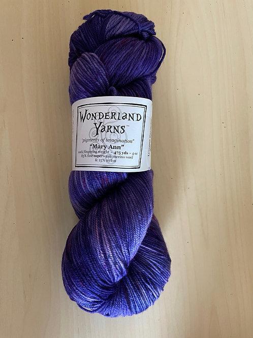 "Wonderland Yarns Mary Ann Sock ""Shimmerness"" #224"