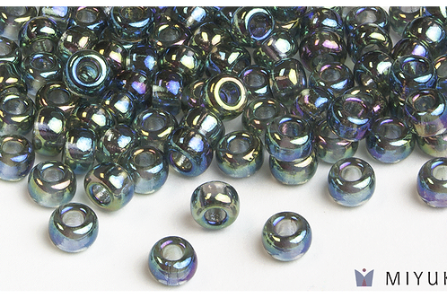 Miyuki 6/0 Glass Beads Transparent Grey AB
