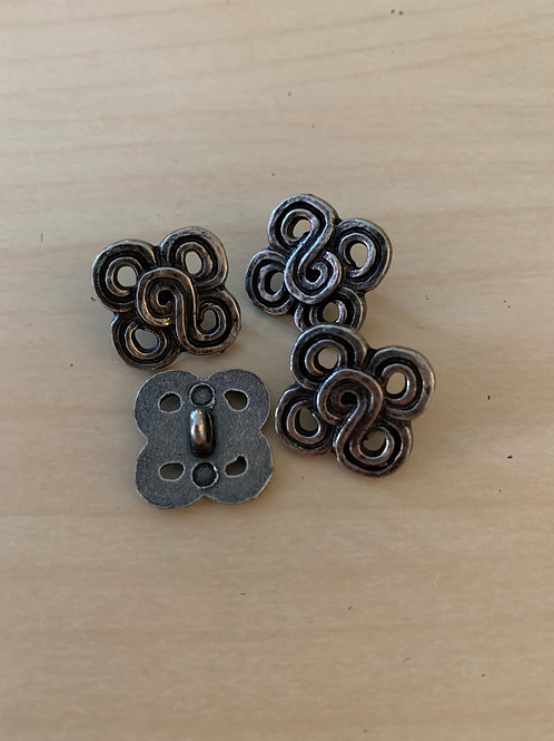 Silver Celtic Clover Knot Buttons