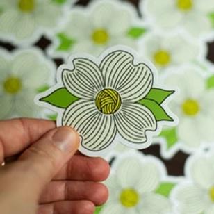 ADknits Stickers Dogwood Flower Knitting