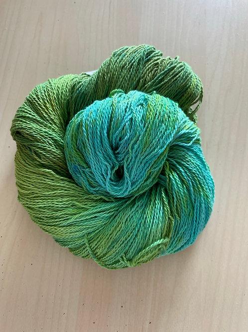 "Great Adirondack Yarn Co Organic Cotton Fingering ""Pistachio"""