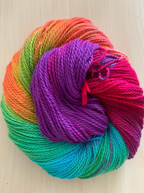 "Great Adirondack Yarn Co. Organic Cotton DK ""Rainbow"""