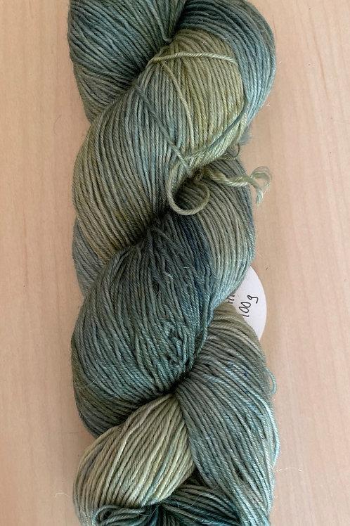 "ColorWae Fiber Arts Sturdy Sock ""Sage Leaves"" ooak"