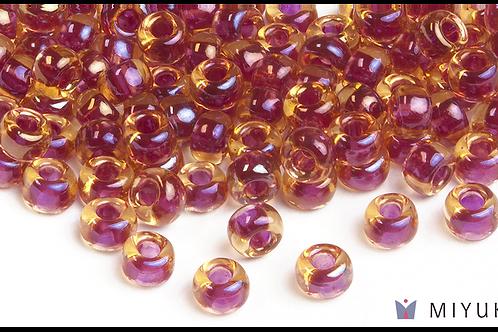 Miyuki 6/0 Glass Beads Cranberry-lined Topaz AB