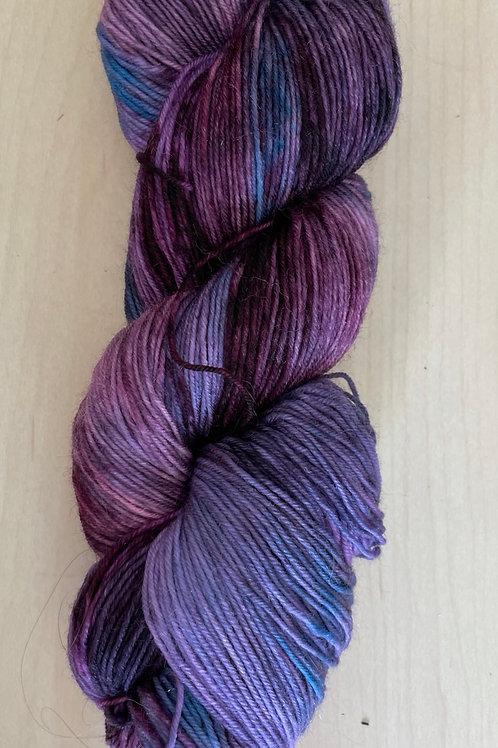 "ColorWae Fiber Arts Sturdy Sock ""Night Shade"" ooak"