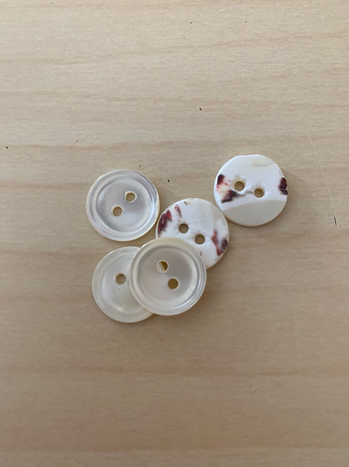 Small round mother of pearl shell buttons