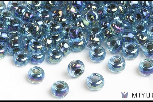 Miyuki 6/0 Glass Beads Blue-lined Aqua AB