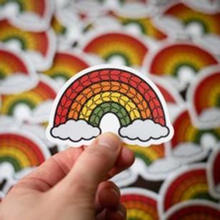 ADknits Stickers Rainbow