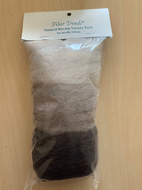 Fiber Trends Natural Roving Variety Pack
