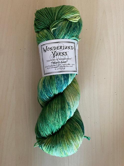 "Wonderland Yarns Mary Ann Sock ""Phosphorus"" #219"