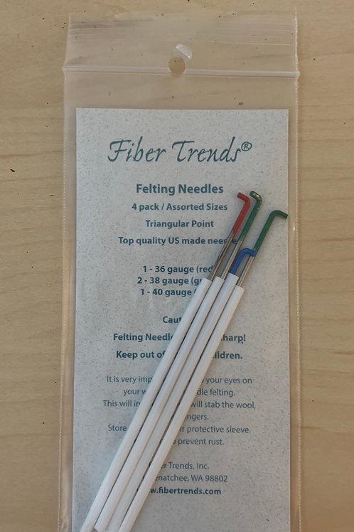 Fiber Trends Felting Needles 4pack/assorted sizes