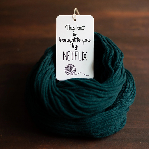 ADknits Knit by Netflix Gift Tags