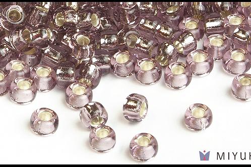 Miyuki 6/0 Glass Beads Silverlined Lilac