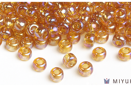 Miyuki 6/0 Glass Beads Transparent Gold AB
