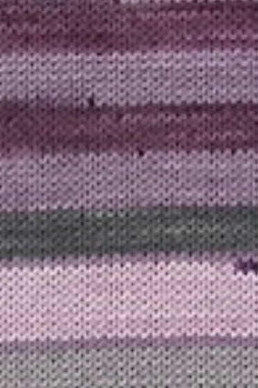 "Cascade Yarns Heritage Prints ""Purple Smoke Stripe"" 70"