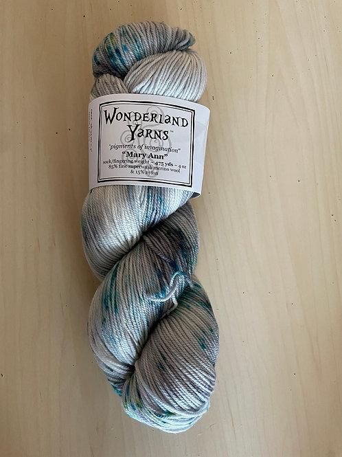 "Wonderland Yarns Mary Ann Sock ""Fireflies"" #230"