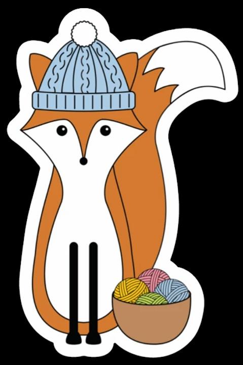 ADknits Stickers Fox Knitting