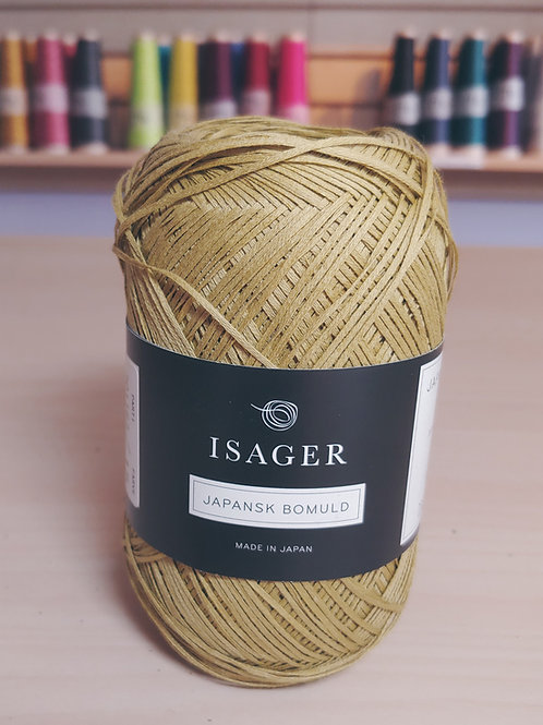 """Isager Japansk Bomuld """"Yellow-Green"""" 40"""