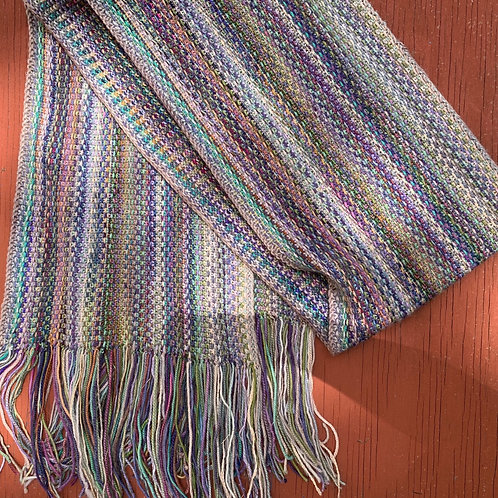 Linda's Linen Stitch Scarf Icy Pinks and Purples