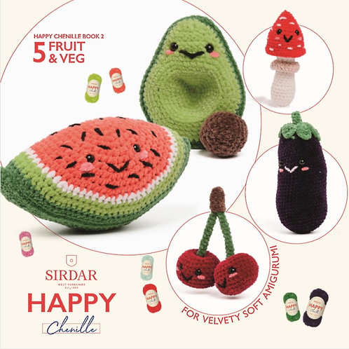 Sirdar Happy Chenille Fruit & Veg Pattern Booklet