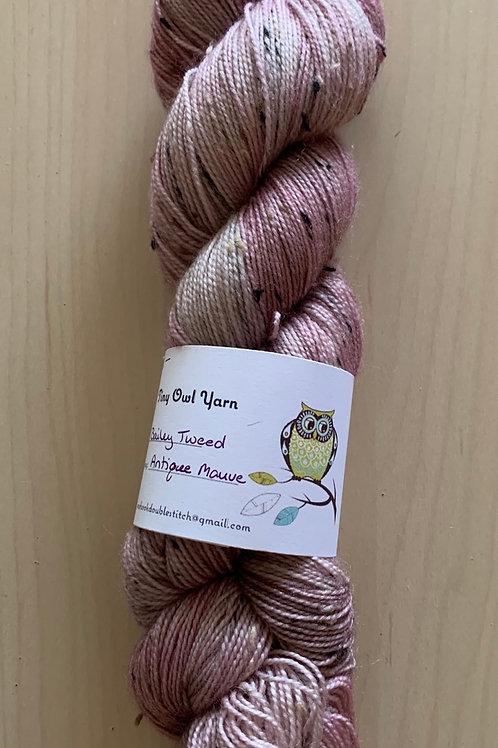 "Tiny Owl Yarn Bailey Tweed ""Antique Mauve"""
