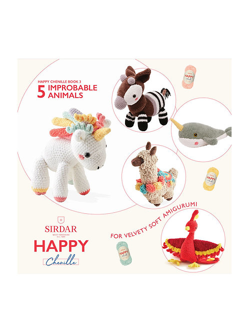 Sirdar Happy Chenille Improbable Animals Pattern Booklet