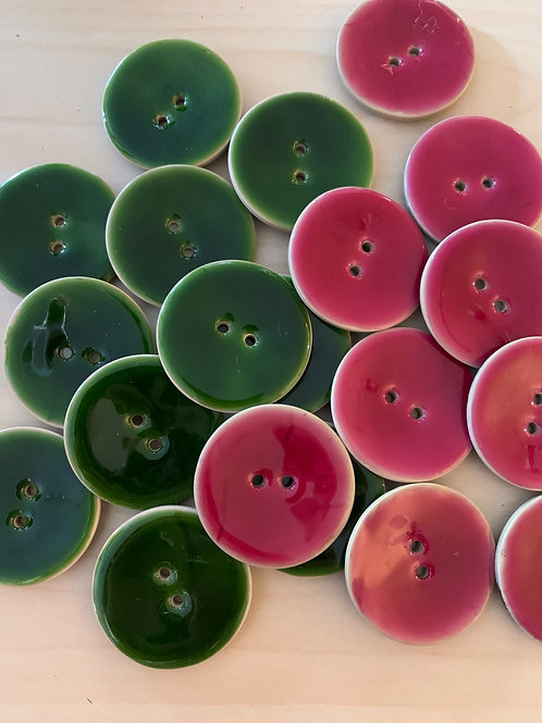 Enameled Coconut Buttons