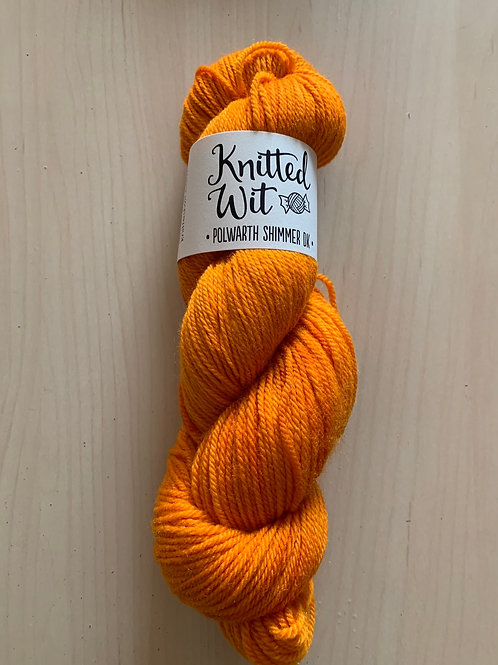"""Knitted Wit Polworth Shimmer DK """"Glazed Over Carrots"""""""