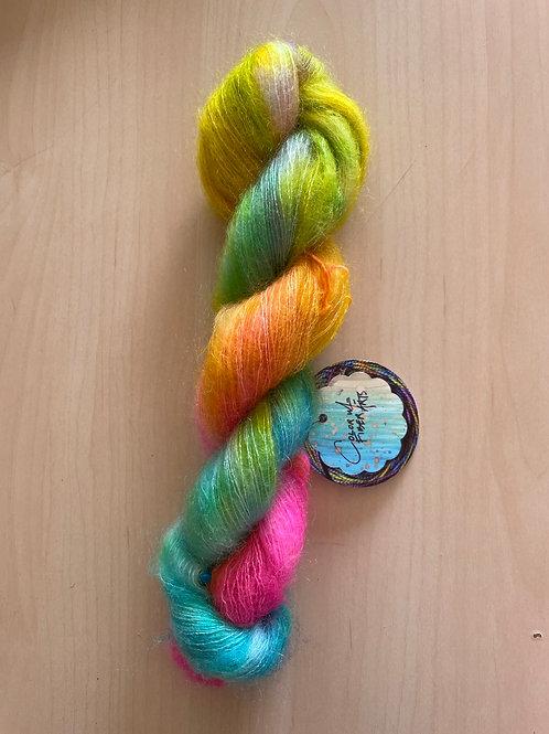 "ColorWae Fiber Arts Color Cloud Mohair ""Happiness"""
