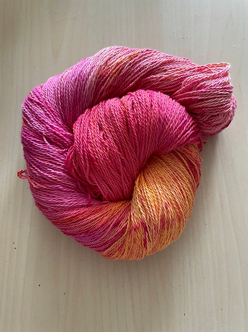 "Great Adirondack Yarn Co Organic Cotton Fingering ""Peaches"""